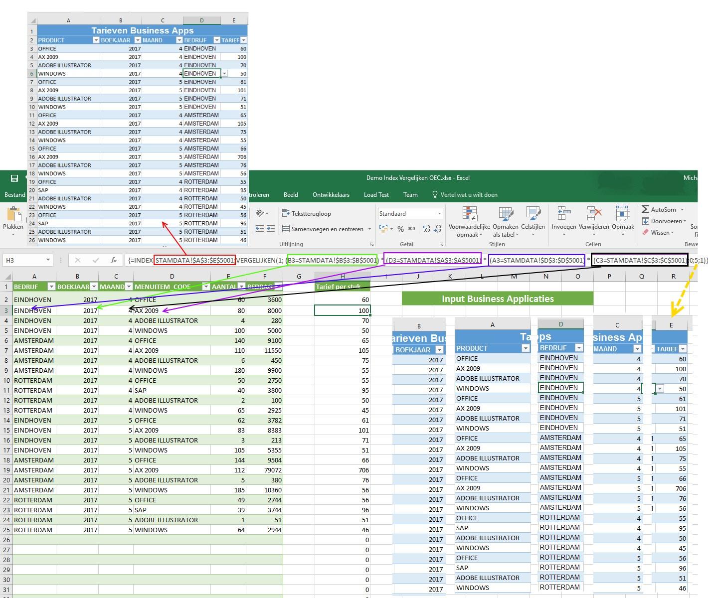 Vergeet verticaal zoeken, gebruik index vergelijken!